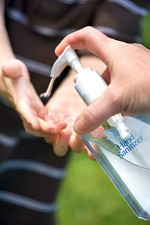 A hand sanitizer is an excellent alternative to hand washing when soap & water are not available!