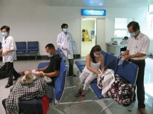 Infected people quarantined at Tan Son Nhat Airport, Ho Chi Minh City (photo: SGGP)
