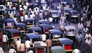 A Pretty Typical Indian Traffic Scene