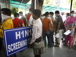 Special H1N1 Screening Centers in New Delhi, India