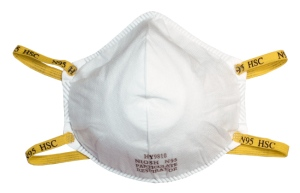 IOM's report stated that health care workers who interact with patients suspected or confirmed to be infected with novel H1N1 should wear fitted N95 respirators