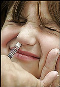 Flu Mist contains a weakened live virus, while injections contain killed and fragmented virus.