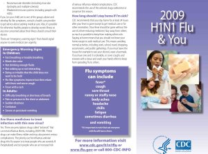 H1N1 Flu and You - New CDC Brochure