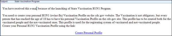 Be aware of any email that asks you to register for a vaccination or a vaccination data base...they are all scams!