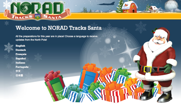 The official NORAD Santa tracking website. http://www.noradsanta.org/