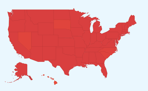 "Googles Flu Trends map as you can see is ""on fire."""