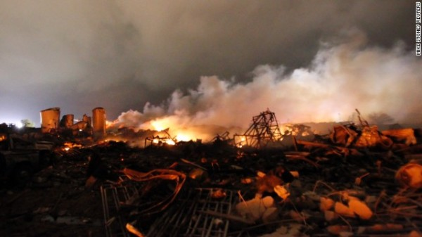 On April 17, an explosion at a fertilizer plant in West, Texas, leveled part of the small town located some 20 miles north of Waco.